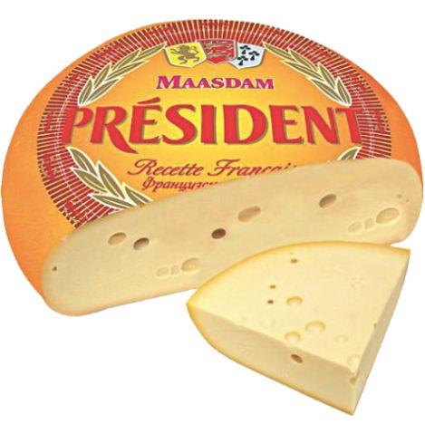 PRESIDENT - СЫР PRESIDENT МААЗДАМ 48% ВЕС 1 кг 2000000271226