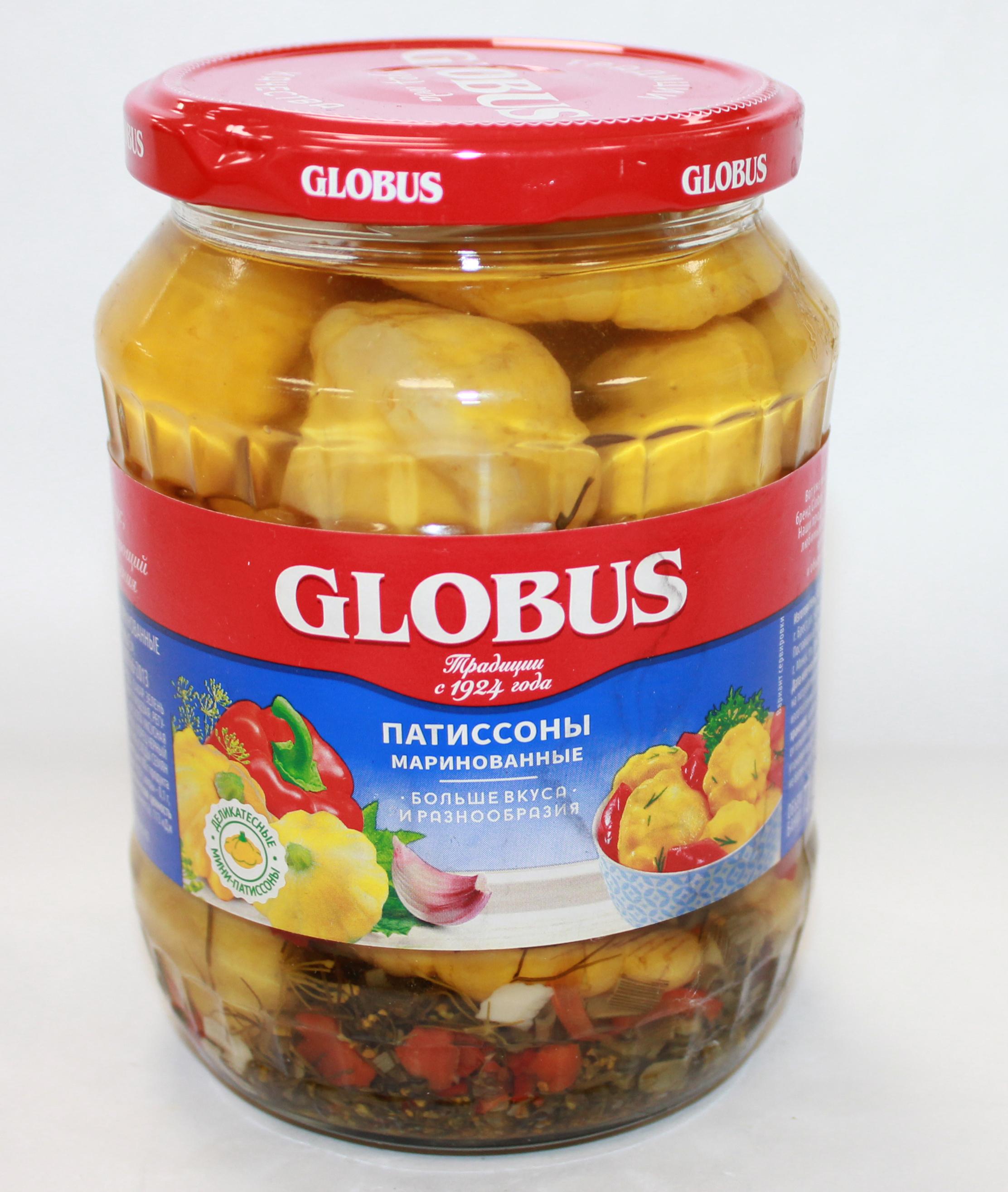 GLOBUS - ПАТИССОНЫ GLOBUS 680гр МАРИНОВАННЫЕ 3435649855419