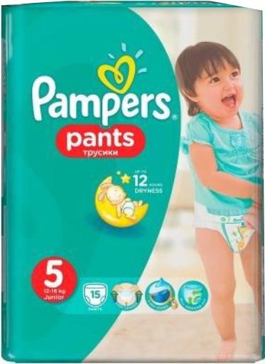 PAMPERS - ТРУСИКИ PAMPERS PANTS S5 15шт 12-17кг 4015400727026