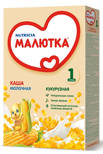 МАЛЮТКА - КАША МОЛОЧНО-КУКУРУЗНАЯ 220гр 4600209004715