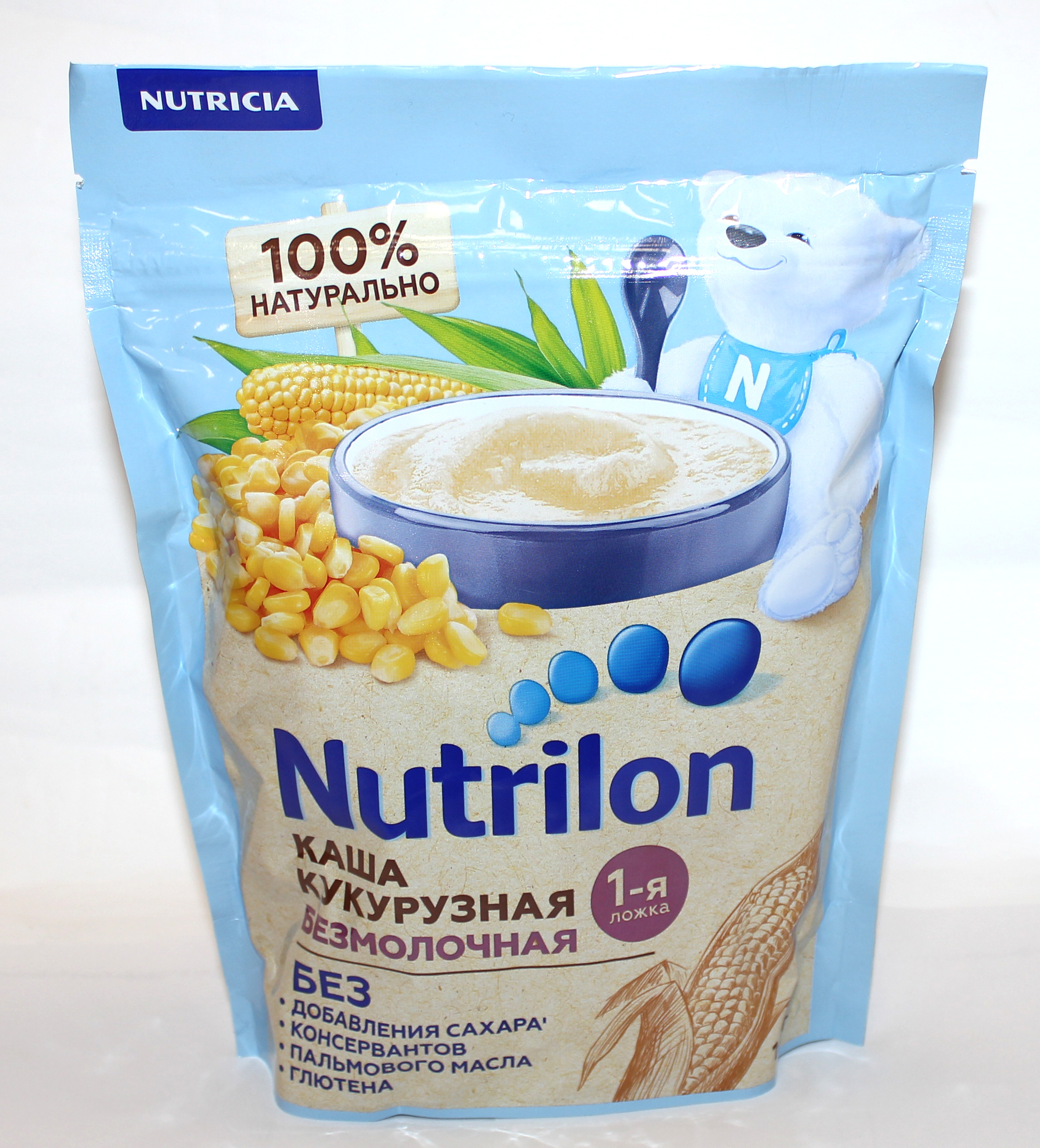 NUTRILON - КАША БЕЗМОЛОЧНАЯ КУКУРУЗНАЯ 180гр 4600209012659