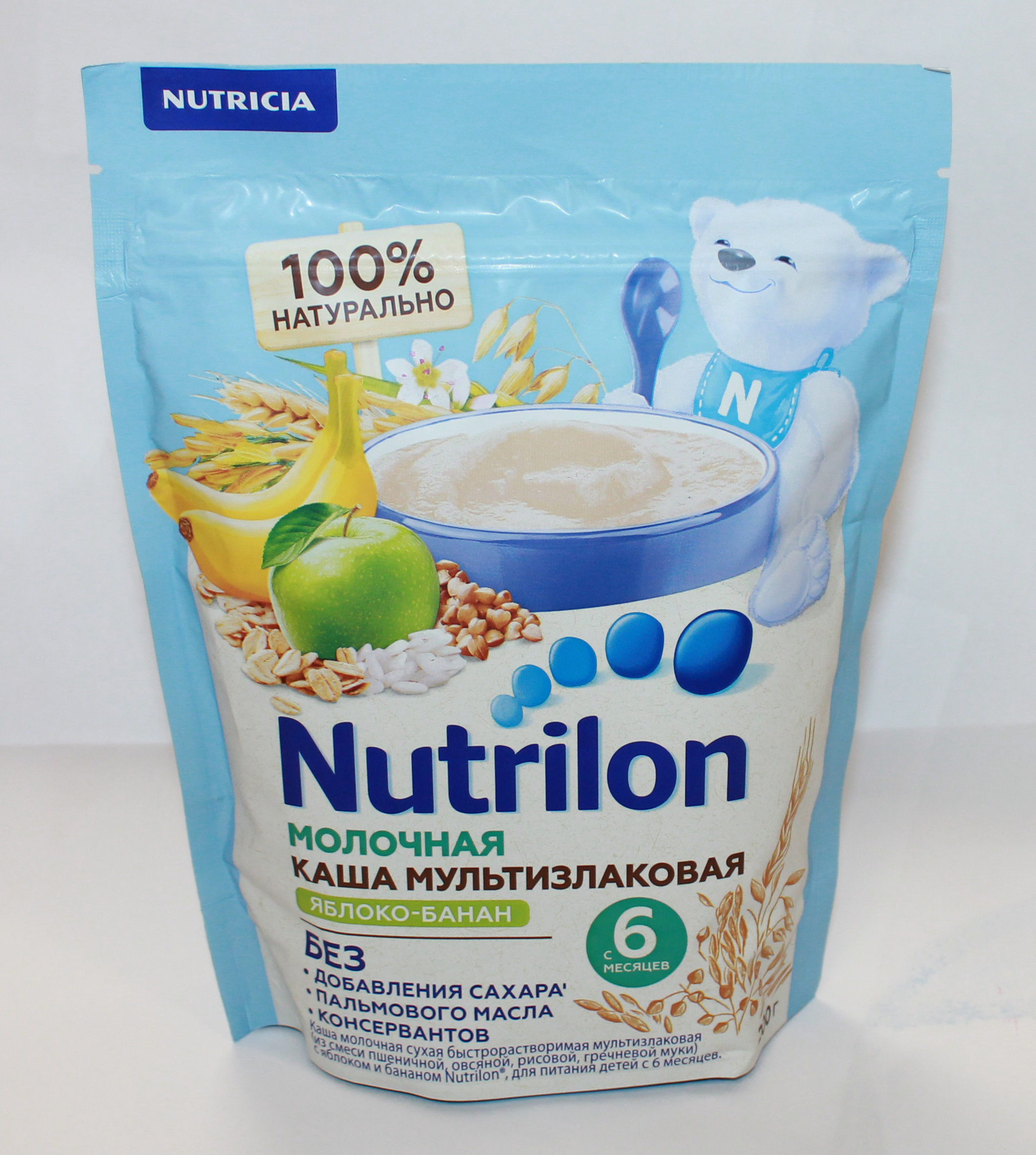 NUTRILON - КАША NUTRILON 200гр МОЛОЧНАЯ МУЛЬТИЗЛАК.ЯБЛ/БАНАН 4600209013458
