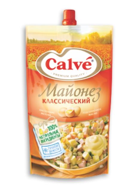 CALVE - МАЙОНЕЗ 200 ГР. КЛАССИЧЕСКИЙ ДОЙ ПАК 4600822901149