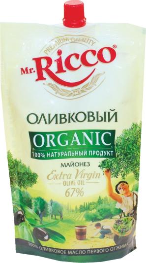 MR.RICCO - МАЙОНЕЗ ОЛИВКОВЫЙ 67% 400 МЛ 4604075031967
