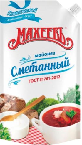 МАХЕЕВЪ - МАЙОНЕЗ СМЕТАННЫЙ 380 ГР Д/П 50,5% 4604248013967