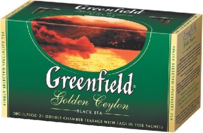 GREENFIELD - ЧАЙ ЧЕРНЫЙ GREENFIELD 25*2гр GOLDEN CEYLON 4605246003523