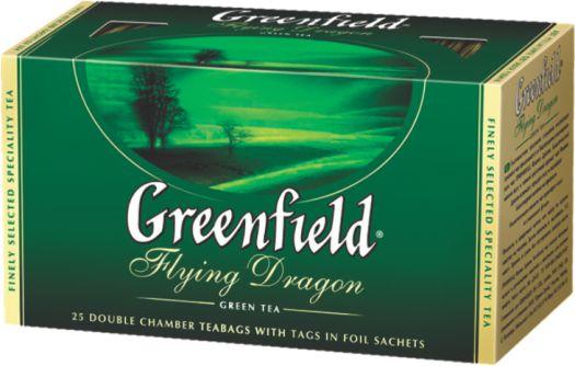 GREENFIELD - ЧАЙ ЗЕЛЕНЫЙ GREENFIELD 25*2гр FLYING DRAGON 4605246003585