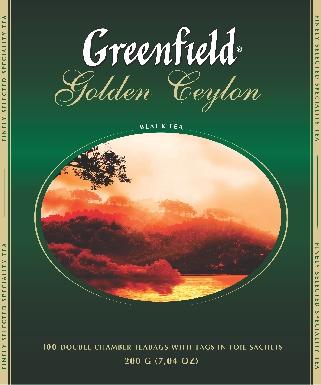 GREENFIELD - ЧАЙ ЧЕРНЫЙ GREENFIELD 100*2гр GOLDEN CEYLON 4605246005817