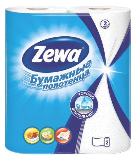 ZEWA - БУМАЖНЫЕ ПОЛОТЕНЦА ZEWA РОССИЯ 2сл 2рул 4605331034302