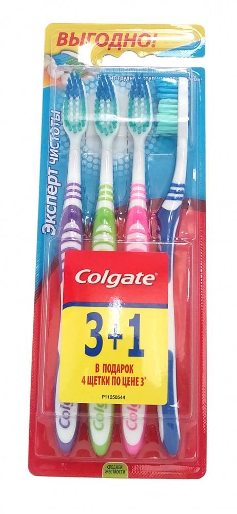 COLGATE - ЗУБНАЯ ЩЕТКА COLGATE 3+1 ЭКСПЕРТ ЧИСТОТЫ 4606144007880