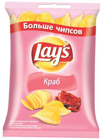 LAYS чипсы - ЧИПСЫ LAYS 150гр КРАБ 4690388003951