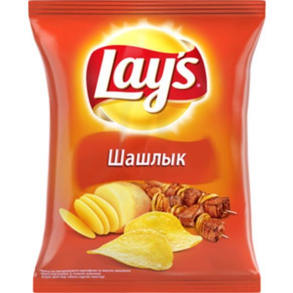 LAYS чипсы - ЧИПСЫ LAYS 150гр ШАШЛЫК 4690388004286
