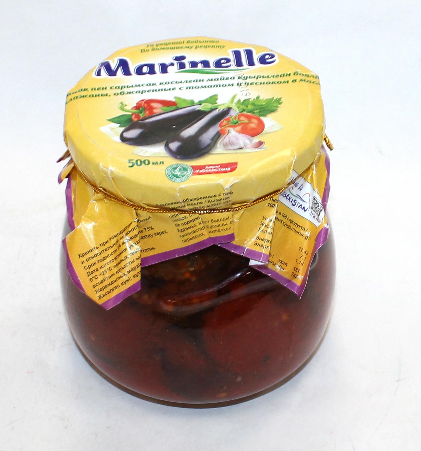 MARINELLE - БАКЛАЖАНЫ MARINELLE 500мл ОБЖАР.С ТОМАТОМ/ЧЕСНОКОМ 4780037060128