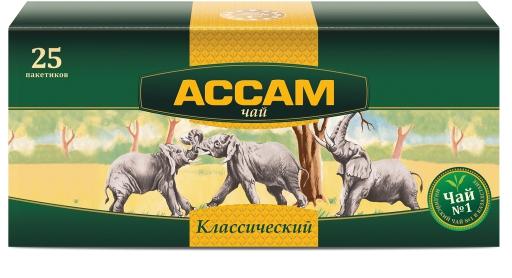 ASSAM - ЧАЙ ЧЕРНЫЙ ASSAM 25пак КЛАССИЧЕСКИЙ 4870002903441