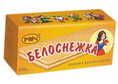 РАХАТ вафли - ВАФЛИ БЕЛОСНЕЖКА 110г 4870036007023