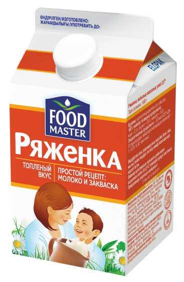 ФУДМАСТЕР - РЯЖЕНКА FOOD MASTER 2,5% 500МЛ. ТП 4870055000043