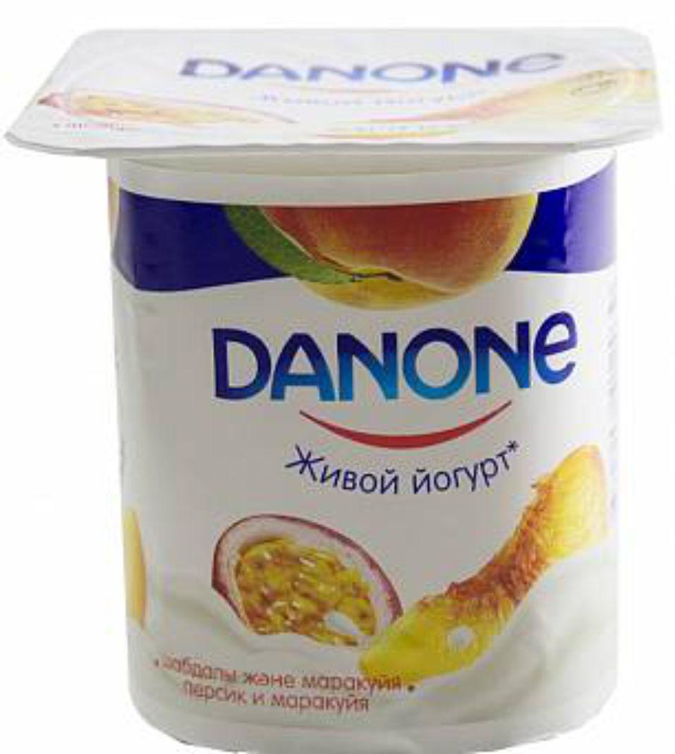 DANONE - ЙОГУРТ DANONE 2,5% 120гр.ПЕРСИК МАРАКУЙЯ 4870206414187