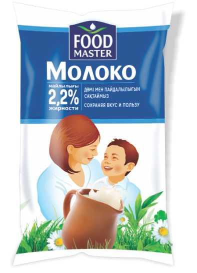 ФУДМАСТЕР - МОЛОКО FOOD MASTER 2,2% 0,9 Л. ФИНПАК 4870207312178