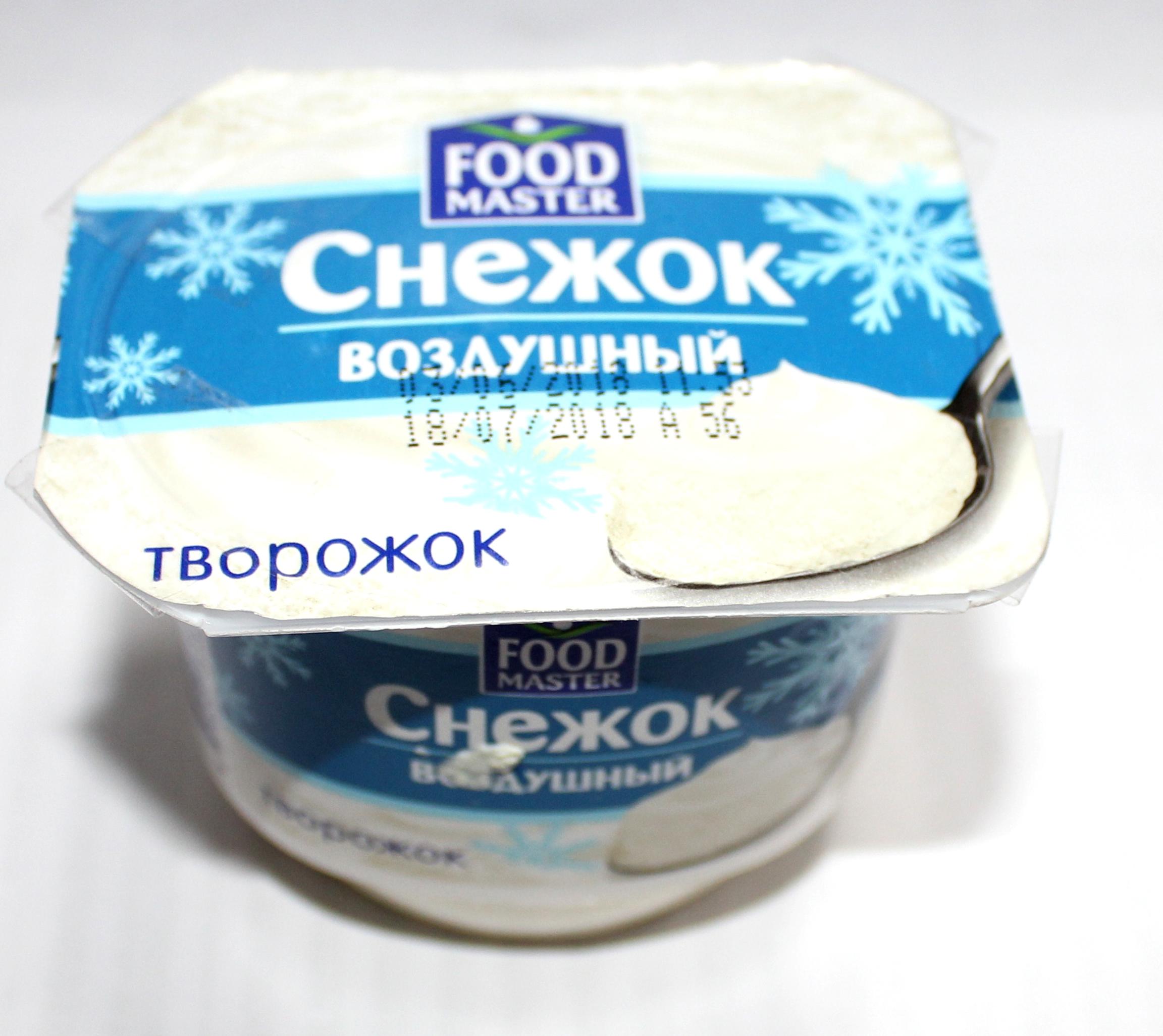 FOOD MASTER - ТВОРОЖОК FOOD MASTER ВЗБИТЫЙ СНЕЖОК 3,8% 100ГР 4870207313359