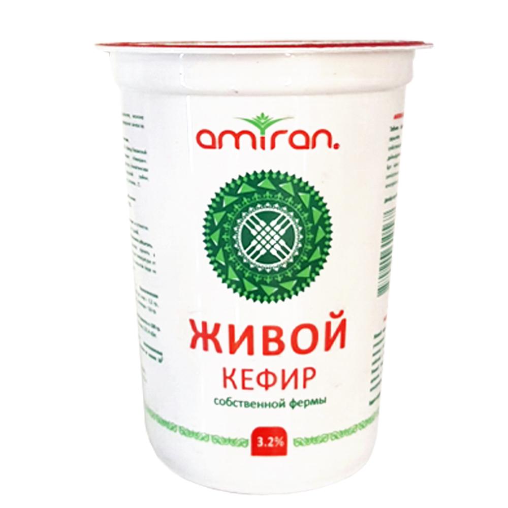 AMIRAN - КЕФИР AMIRAN ЖИВОЙ 3,2% 500ГР ПЛ. СТАКАН 4870210310567