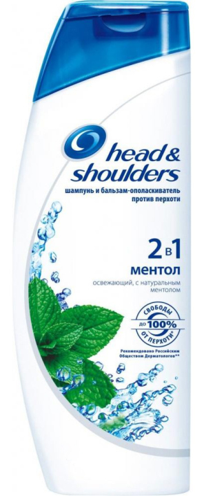 HEAD & SHOULDERS - ШАМПУНЬ HEAD & SHOULDERS 400мл МЕНТОЛ 2в1 5000174028522