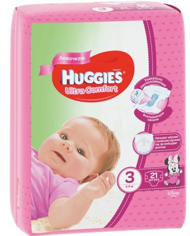 HUGGIES - ПОДГУЗНИКИ HUGGIES UC S3 21шт 5-9кг Д/ДЕВОЧЕК 5029053543543