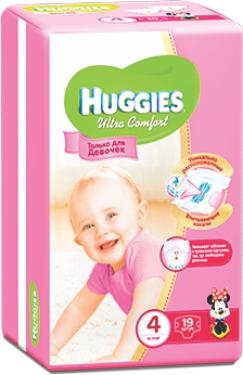 HUGGIES - ПОДГУЗНИКИ HUGGIES UC S4 19шт 8-14кг Д/ДЕВОЧЕК 5029053543567