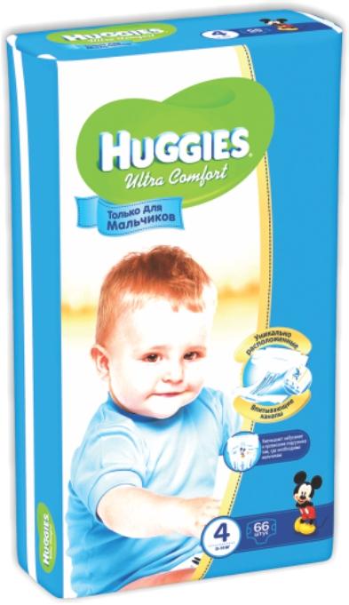HUGGIES - ПОДГУЗНИКИ HUGGIES UC S4 66шт 8-14кг Д/МАЛЬЧИКОВ 5029053543611
