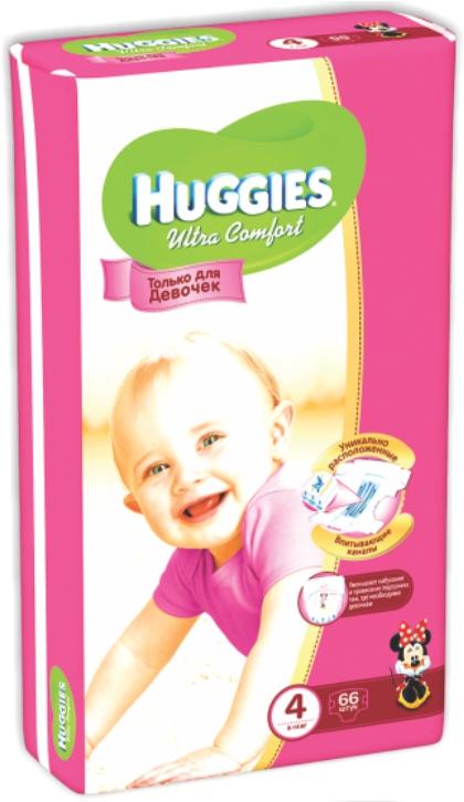 HUGGIES - ПОДГУЗНИКИ HUGGIES UC S4 66шт 8-14кг Д/ДЕВОЧЕК 5029053543628