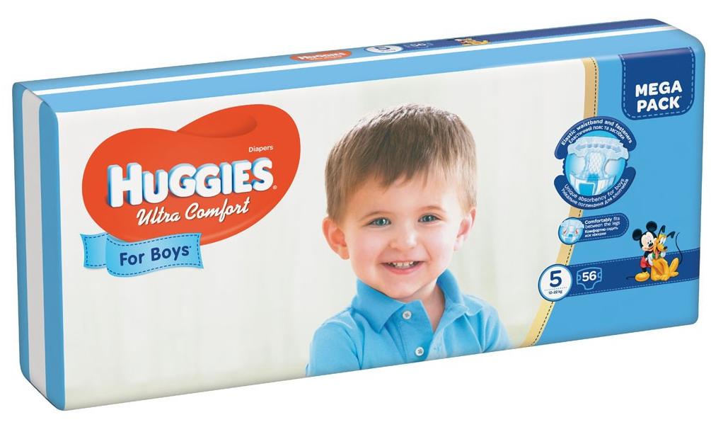 HUGGIES - ПОДГУЗНИКИ HUGGIES UC S5 56шт 12-22кг Д/МАЛЬЧИКОВ 5029053543635