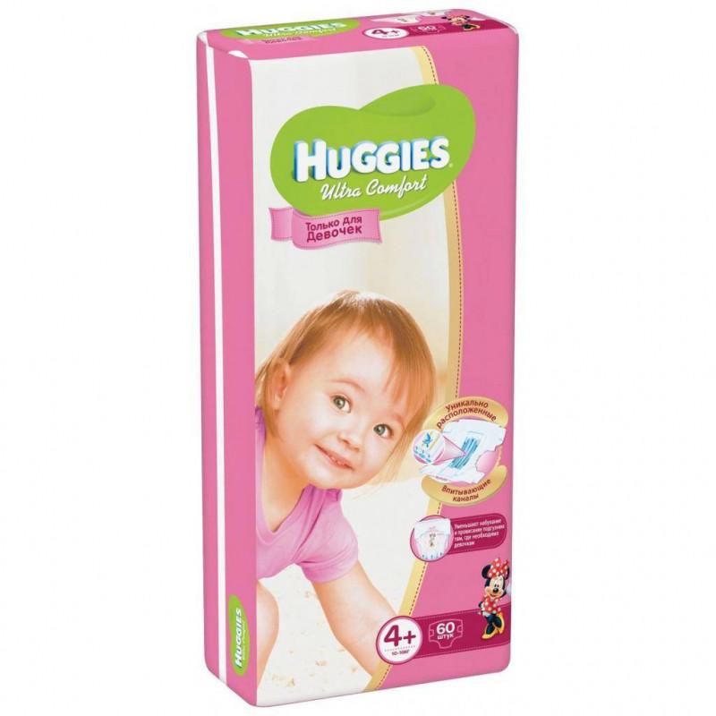 HUGGIES - ПОДГУЗНИКИ HUGGIES UC S4+ 60шт 10-16кг Д/ДЕВОЧЕК 5029053543758