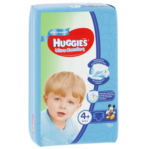 HUGGIES - ПОДГУЗНИКИ HUGGIES UC S4+ 17шт 10-16кг Д/МАЛЬЧИКОВ 5029053543772