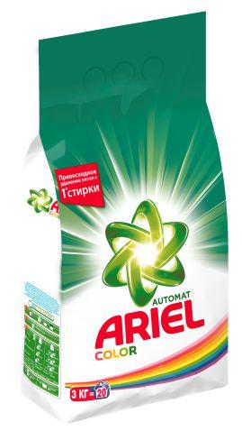 ARIEL - СТИРАЛЬНЫЙ ПОРОШОК ARIEL 3кг COLOR 5413149333437