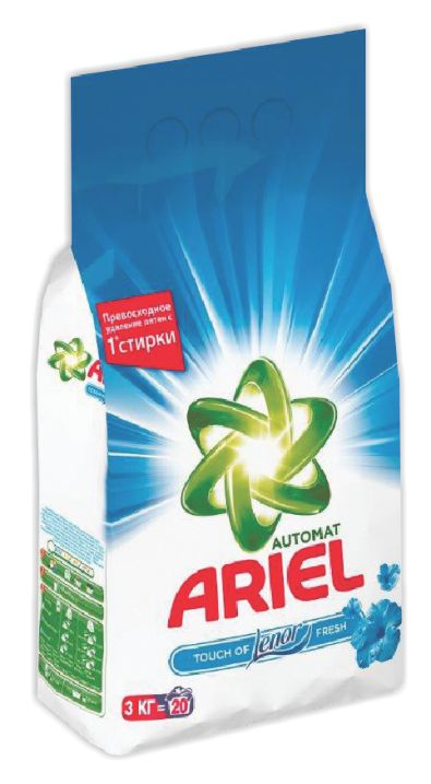 ARIEL - СТИРАЛЬНЫЙ ПОРОШОК ARIEL 3кг TOUCH OF LENOR 5413149601413
