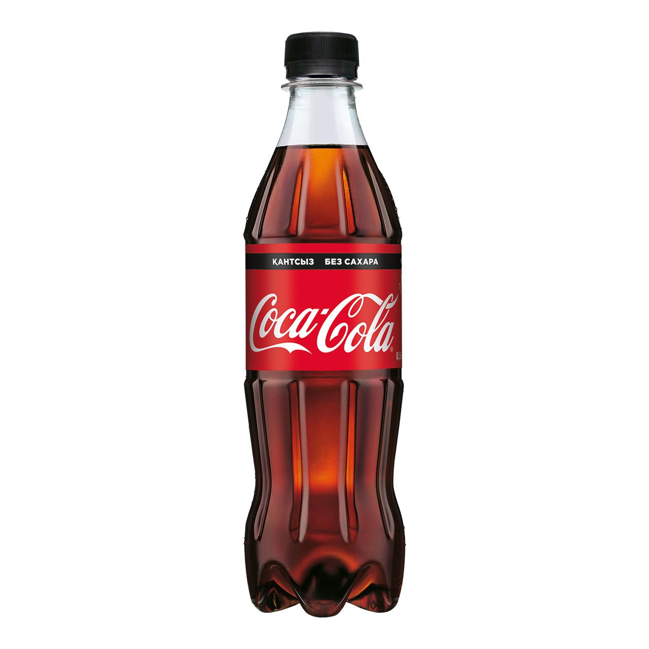 COCA-COLA - НАПИТОК COCA-COLA 0,5л БЕЗ САХАРА ГАЗИРОВАННЫЙ 5449000131836