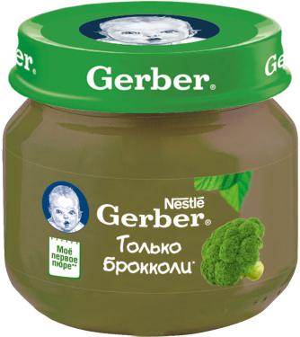 GERBER - ПЮРЕ GERBER 80гр С БРОККОЛИ 5900452078433