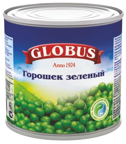GLOBUS - ГОРОШЕК GLOBUS 425гр ЗЕЛЕНЫЙ 5998304240022