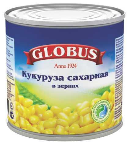 GLOBUS - КУКУРУЗА GLOBUS 425мл САХАРНАЯ 5998304241111