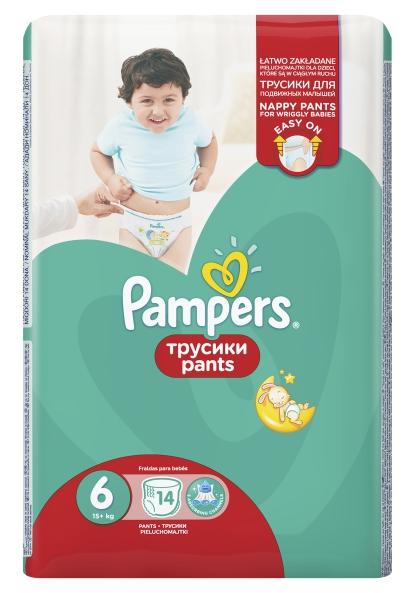 PAMPERS - ТРУСИКИ PAMPERS PANTS S6 14шт 15кг+ 8001090414359