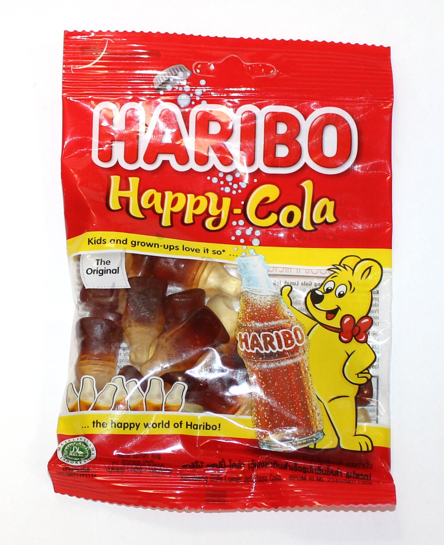 HARIBO - МАРМЕЛАД HAPPY COLA 80гр 8691216090446