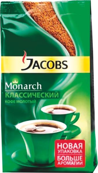 JACOBS - КОФЕ MONARCH ЖАРЕНЫЙ МОЛОТЫЙ Д/П 230гр 8714599100790