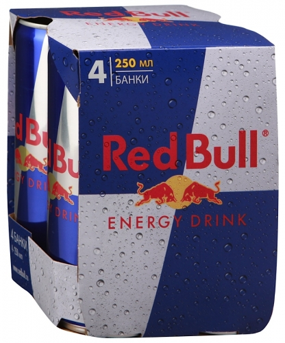 RED BULL - ЭНЕРГЕТИЧЕСКИЙ НАПИТОК RED BULL 0,25л МУЛЬТИП 4х 9002490100490